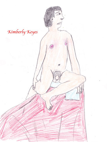 Drawing of a Nude Man