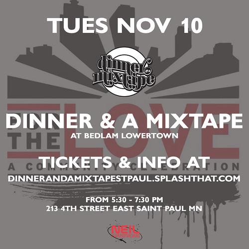 11/10 - Dinner And A Mixtape St. Paul