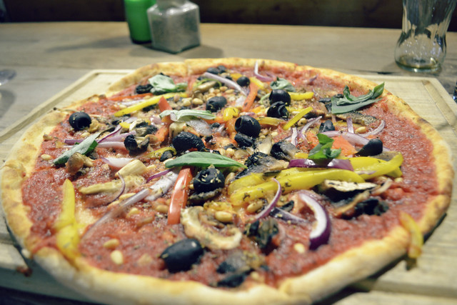 Herb Garden vegan pizza