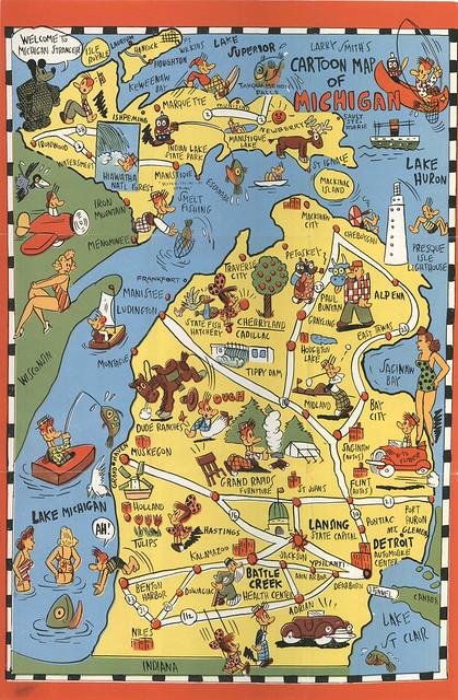 Michigan_Fun_Map 1930