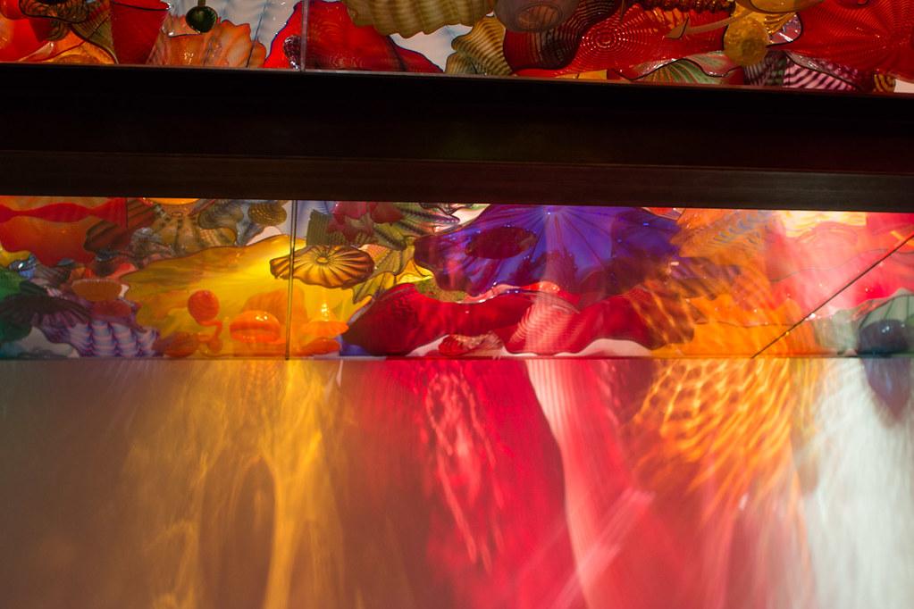Colored glass artwork