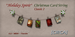 "[CIRCA] - ""Holiday Spirit"" - Christmas Card String - Classic 2"