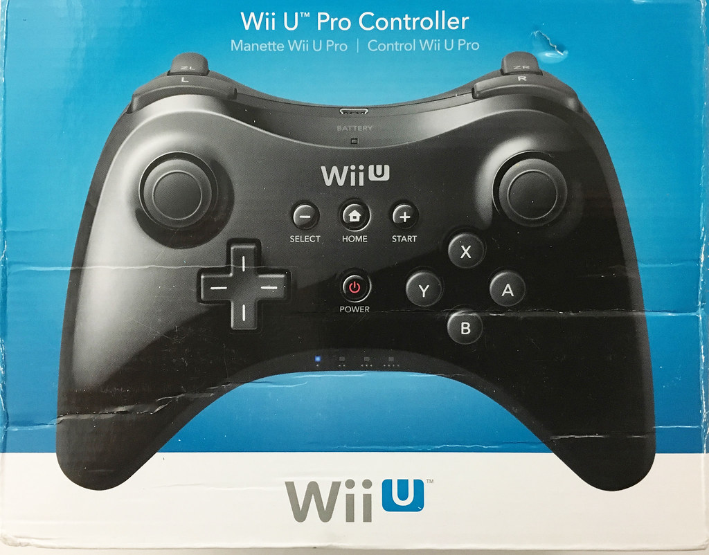 new official nintendo wii u pro controller black oem. Black Bedroom Furniture Sets. Home Design Ideas