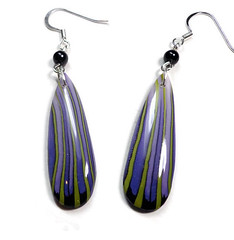 polymer clay Long Dangle Earrings