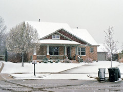 House in Snowstorm, North Richland Hills