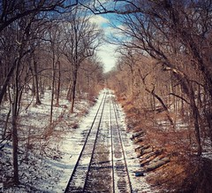 Disused railway line, Forest Park, Queens - LG G5