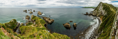 nikon d7100 tamron 16300 nugget point new zealand south island water cliff ocean scenery panorama