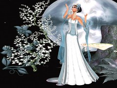 !!TWA!! An Sidean Gown Set-Sky