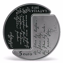 Latvia 2015 5 Euro reverse