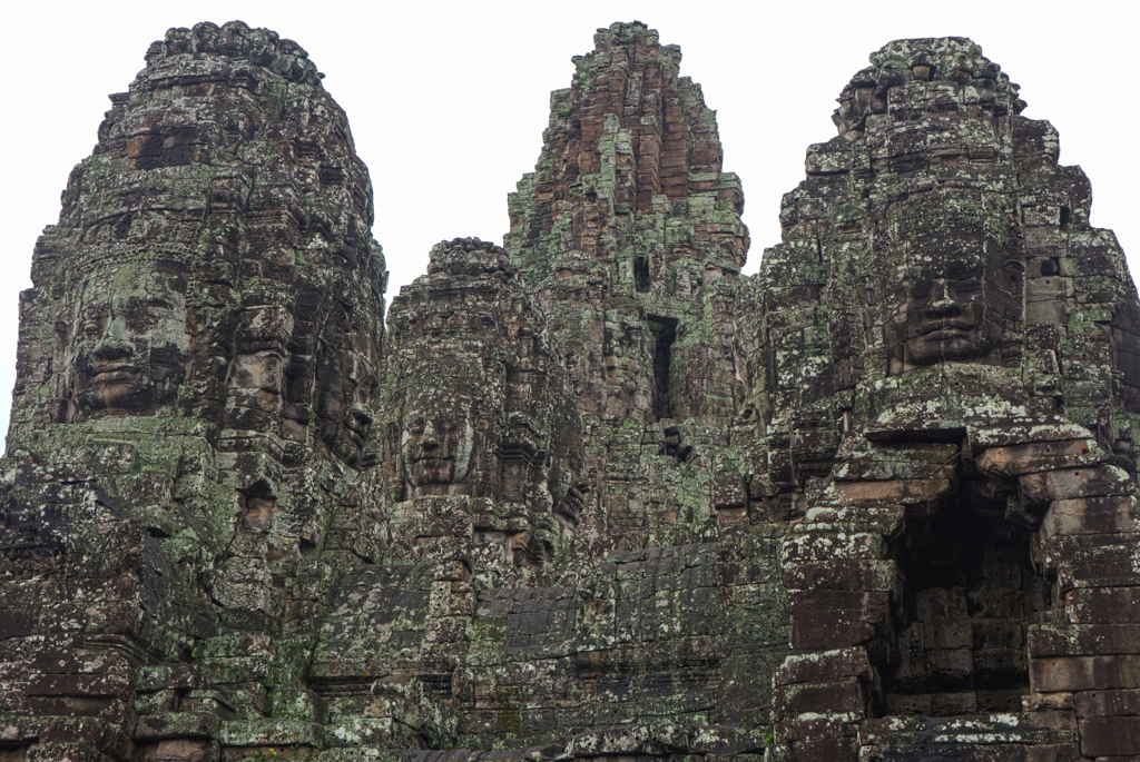 Bayon Temple faces at Angkor Thom in Siem Reap, Cambodia