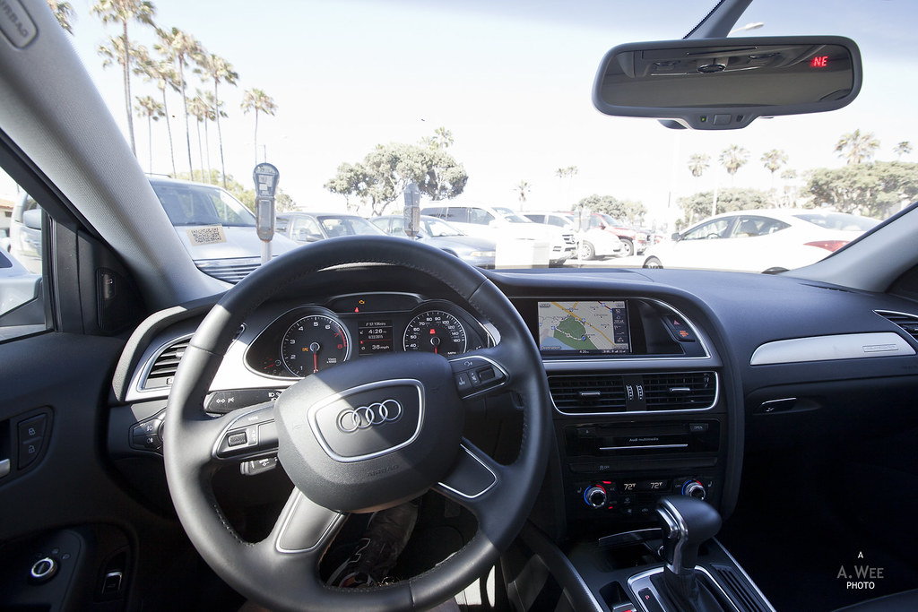 Interior of the 2015 Audi A4