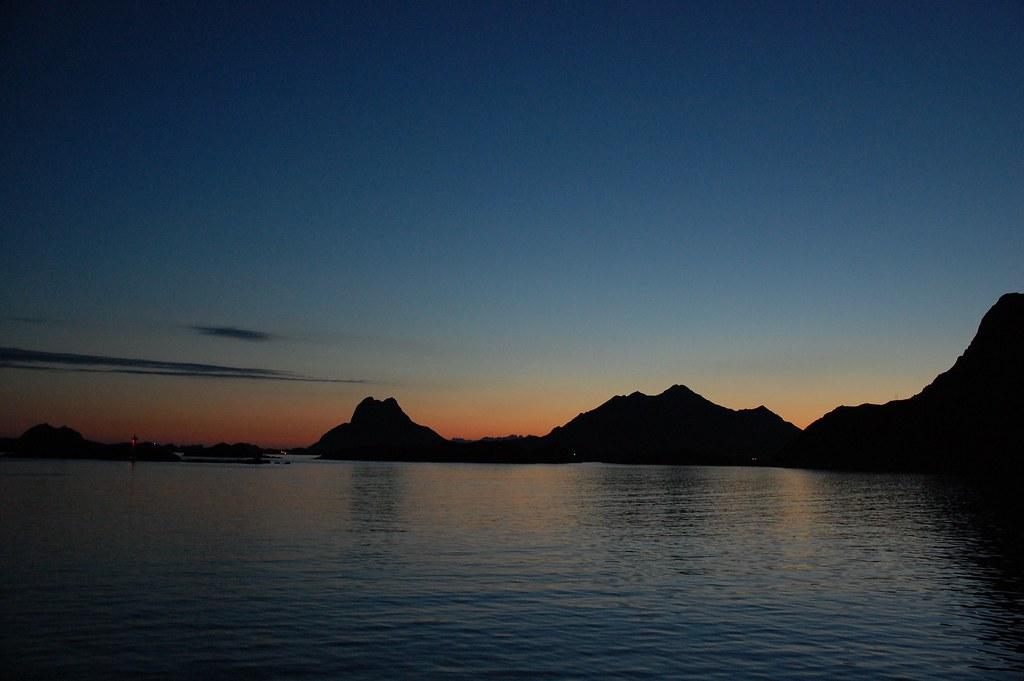 Anochecer en las islas Lofoten