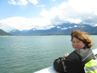 Crossing Arrow Lake by Ferry in British Columbia