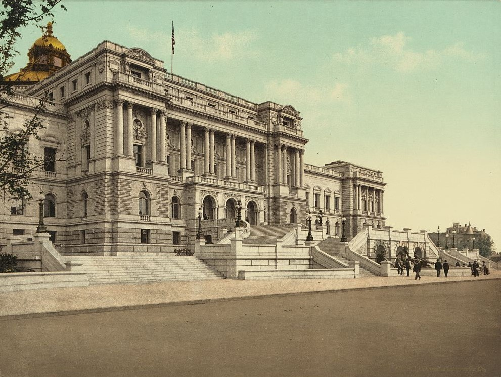 Washington. West façade Library of Congress
