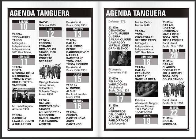 Agenda de tango en Punto Tango