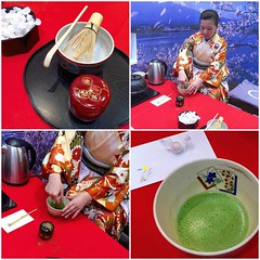 Matcha break at the booth of JODCO / INPEX Group #adihex