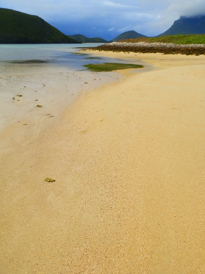 North Beach on a rainy day, Lord Howe Island