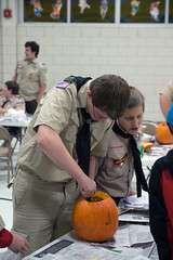 Scouts Pumpkin Carving