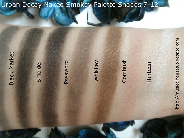 Urban Decay Naked Smoky Palette Swatches Part 2
