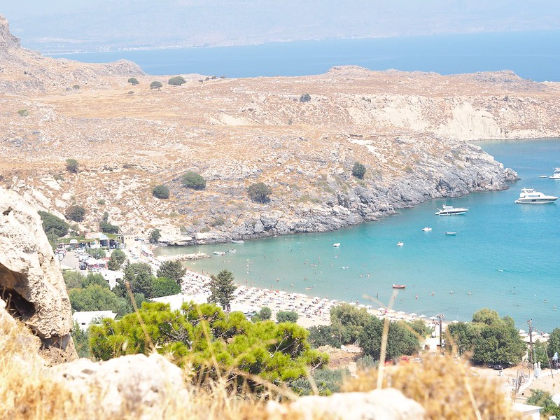 lindos, greece, beach, krystelcouture, styleblogger, fashionblog,