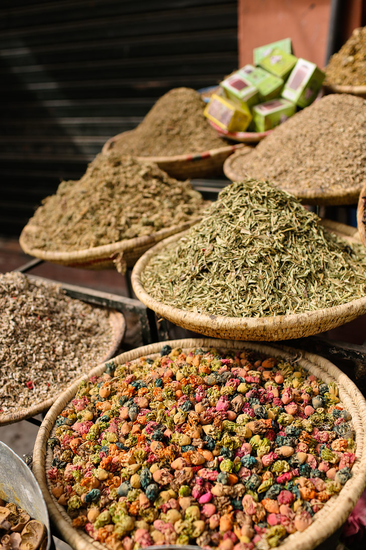 Spices at the Marrakech Market (Things to Do in Morocco).