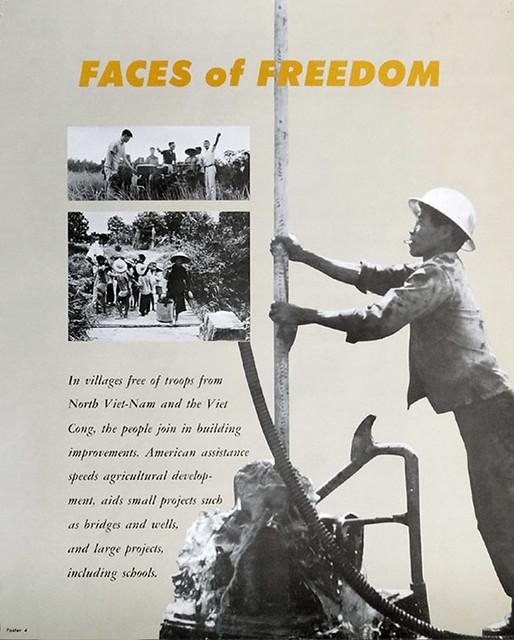 Vietnam War Poster 1967 - FACES OF FREEDOM - NHỮNG KHUÔN MẶT CỦA TỰ DO - Nam Việt Nam