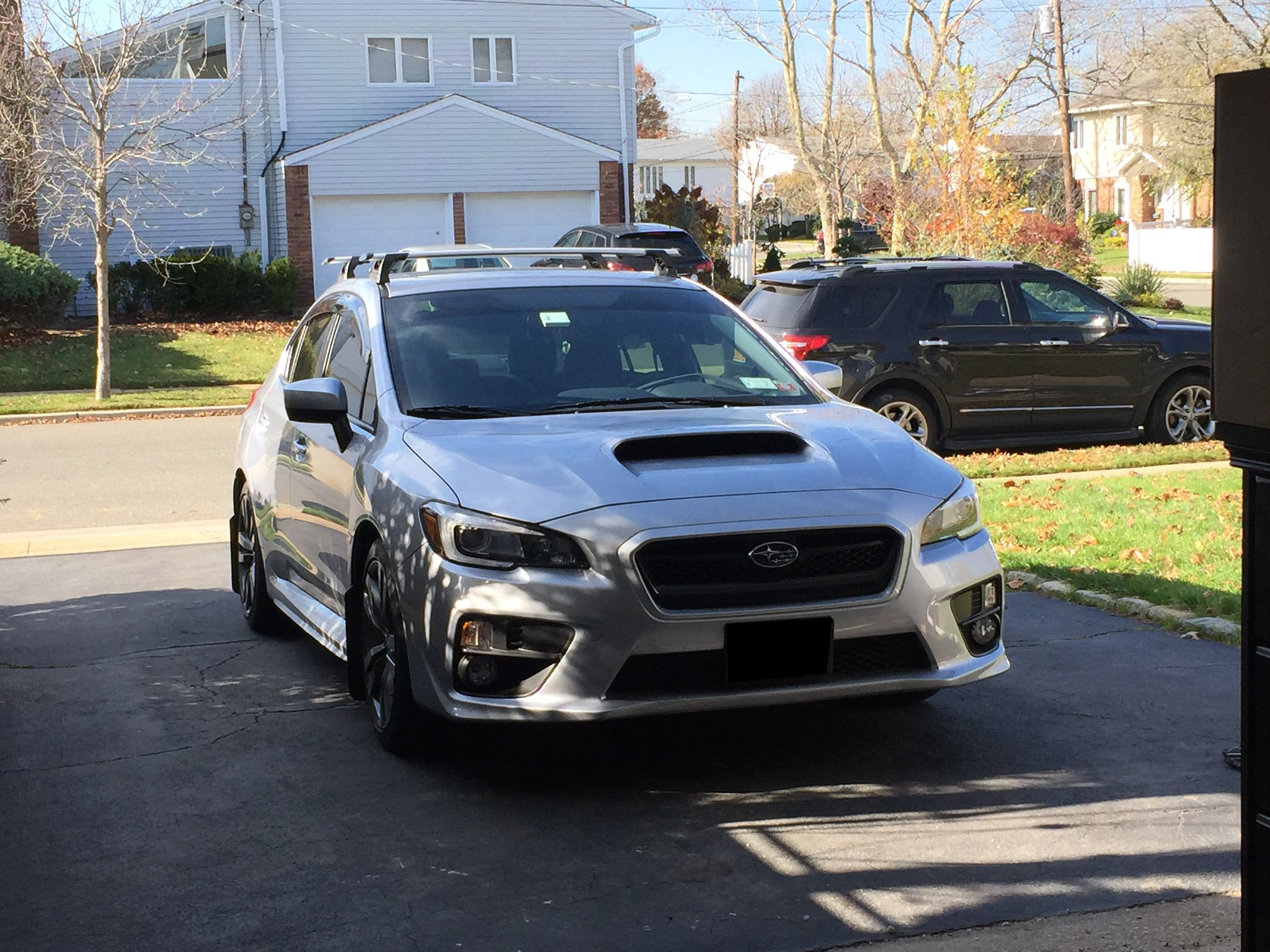 15 Wrx Factory Roof Rack Mount Installed Yea I Drilled It