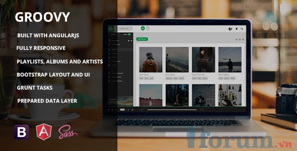 angularjs external template - themeforest groovy angularjs music app template c ng