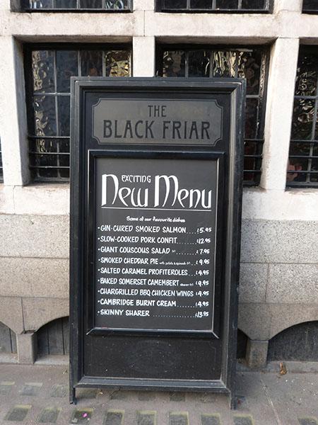 exciting new menu