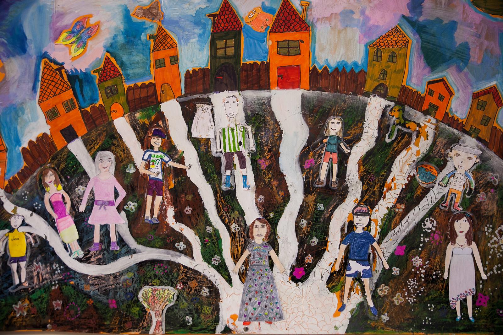 Gyerekrajz egy pécsi általános iskolában | Fotó: Magócsi Márton