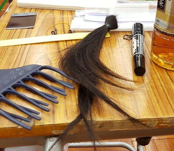 捐髮要求為一年內無染無電,最少捐8吋。相片來源:受訪者提供