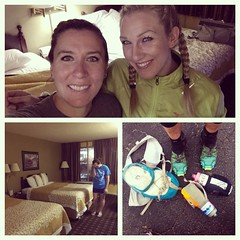 After I sent us to the wrong pre race packet pickup location, missed the meeting, AND booked the hotel for the wrong night...:joy::grimacing: we somehow managed to still have a fun weekend!!!! Thanks for coming with me to play in the mtns ash!!!!! I had a