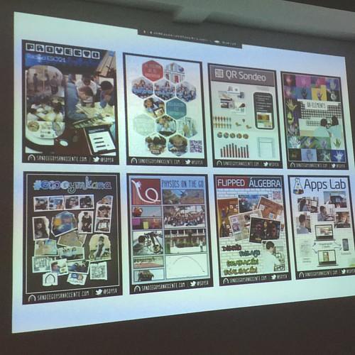 Muchas innovaciones de m-Learning  en  @sdysv en #premiobilbaoFT