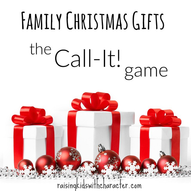 Family Christmas Gifts: The Call-It Game