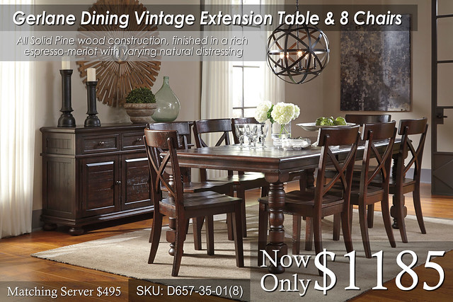 Gerlane Dining Table & 8 chairs