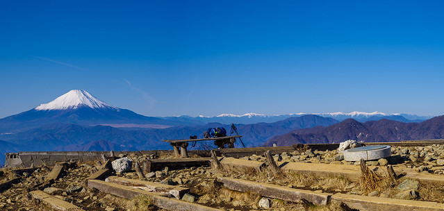 富士山と南アルプスの大パノラマを楽しむ@塔ノ岳