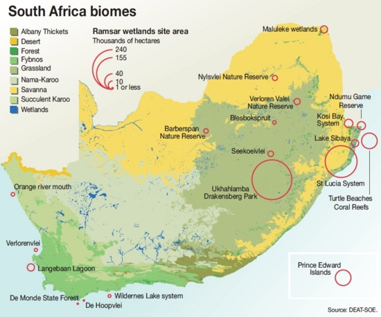 South Africa biomes | GRID Arendal