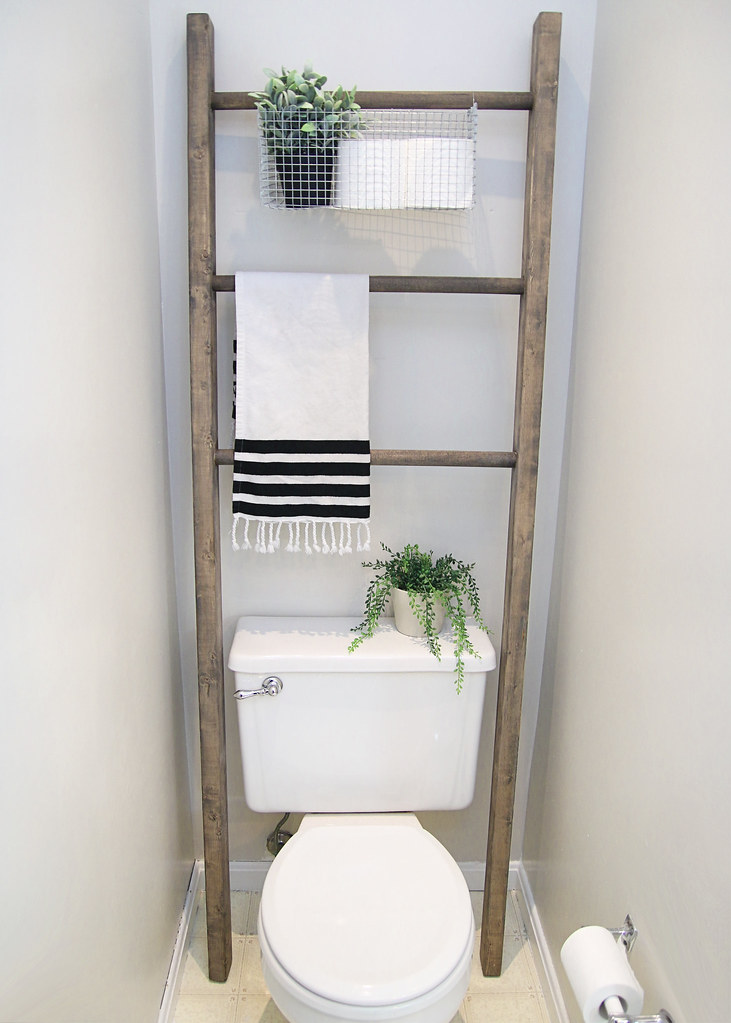 Storage Ladder Above Toilet