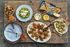 A Delectable Spread of Italian Food