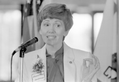 Frances Prince at Library Dedication
