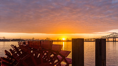 Paddle wheel sunrise