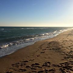 Capvespre a la platja d'El Prat de Llobregat