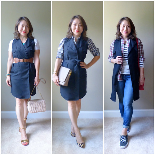 trench dress 3 ways