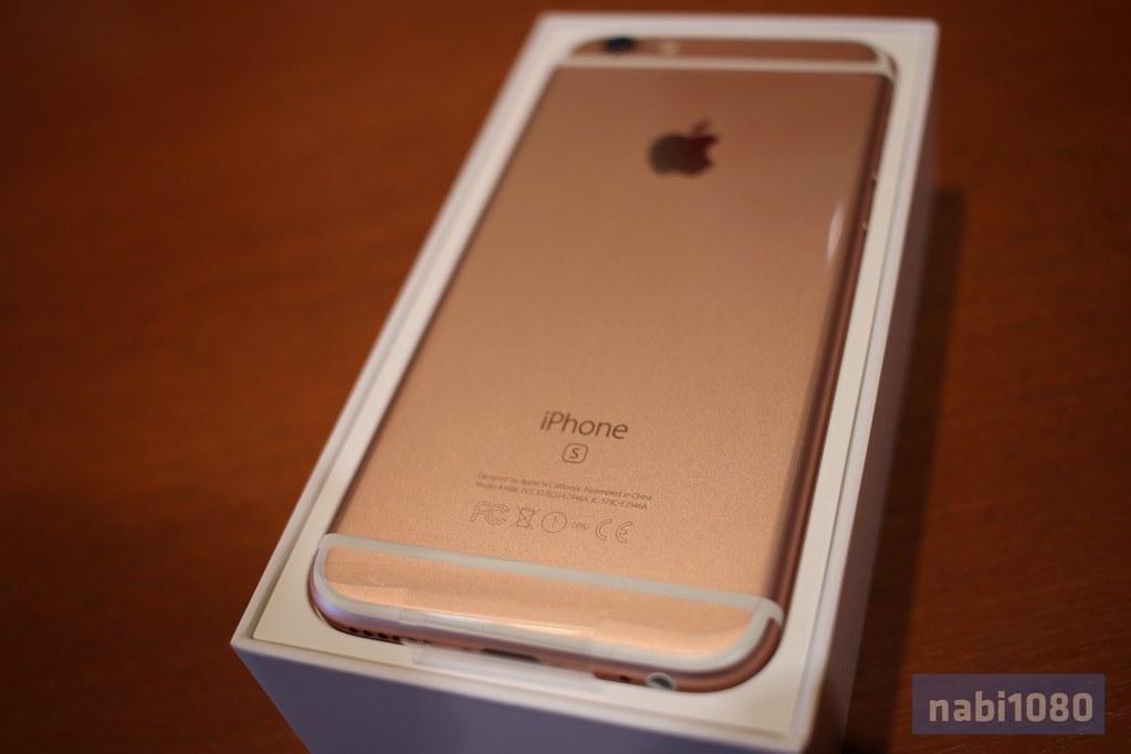 iPhone 6sローズゴールド06