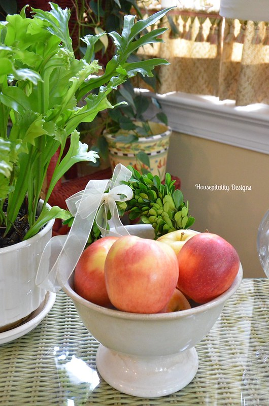 Apples in vintage ironstone bowl - Housepitality Designs
