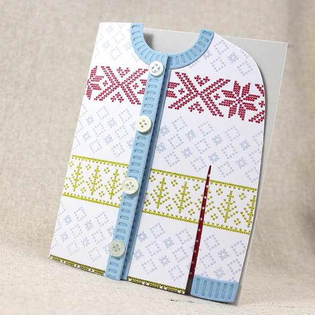 Feminine Fair Isle Cardigan Card