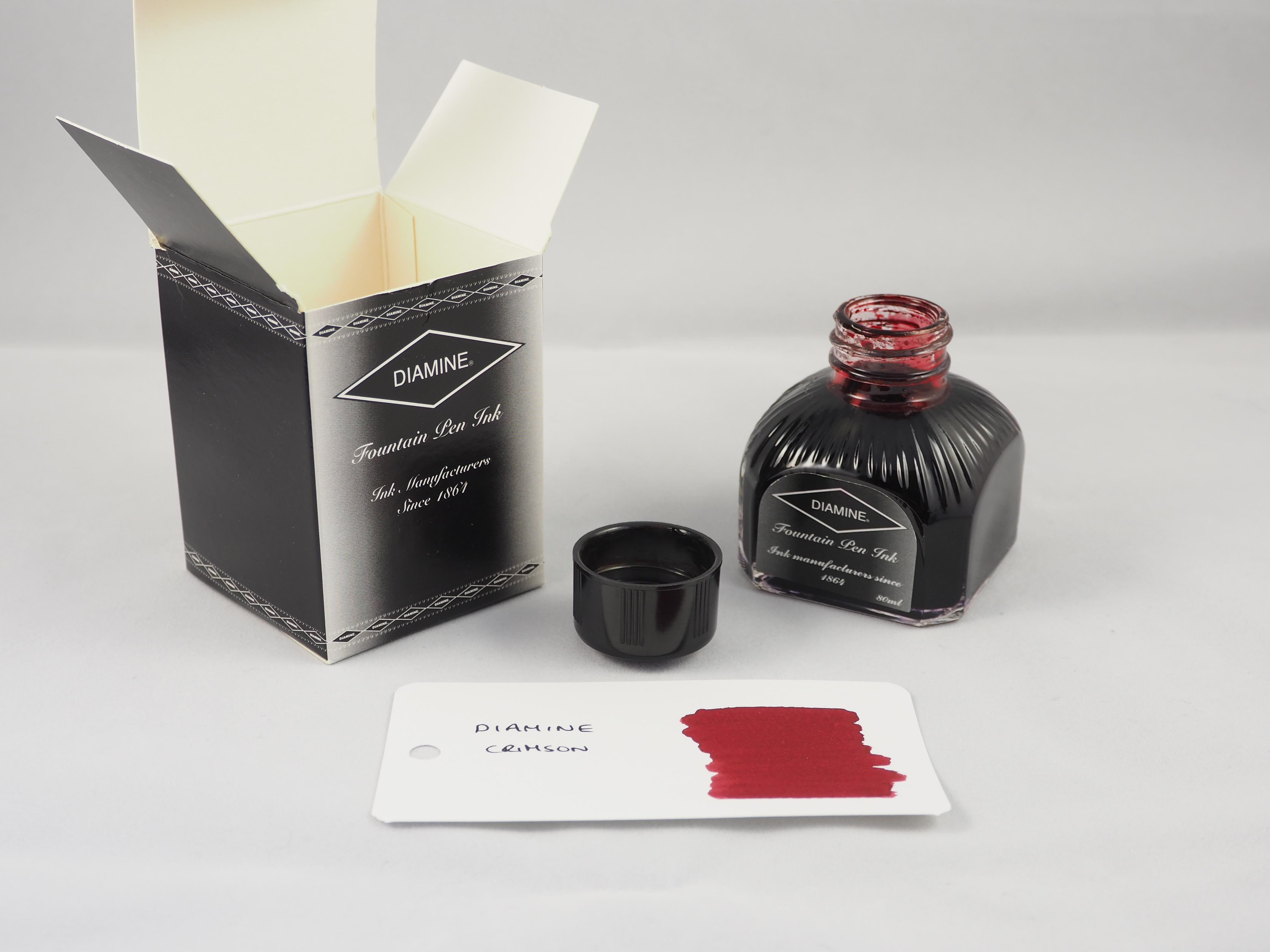 Roses In Garden: Diamine Crimson Ink Review