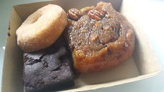 Doughnut, Brownie and Challah Sticky Bun from Smith & Deli