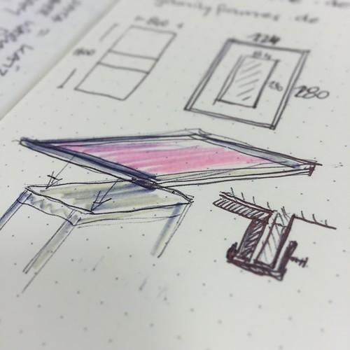 Zeichnung für die Spieltisch-Konstruktion