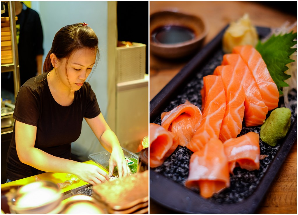 ShuKuu Izakaya's trained sashimi chef preparing food.